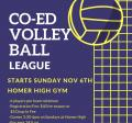 CO-ED Recreational Volleyball League 2016-17