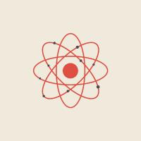 clip art of an atom