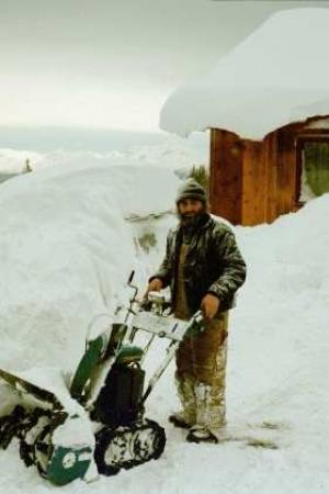 Snowblowing after a storm