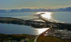 Looking Over Downtown Homer onto the Homer Spit