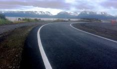 Newly paved Outer Dock Road on Homer Spit